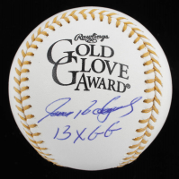 "Ivan Rodriguez Signed Gold Glove Award Baseball Inscribed ""13x GG"" (JSA COA) at PristineAuction.com"