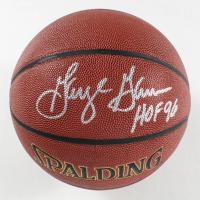 """George Gervin Signed NBA Basketball Inscribed """"HOF 96"""" (Schwartz COA) at PristineAuction.com"""