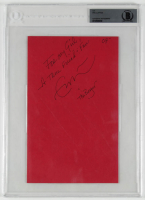 "Eric Clapton Signed 6x9 Cut Inscribed ""For My Girl, A True Friend & Fan"" & ""07"" (BGS Encapsulated) at PristineAuction.com"