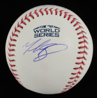 Mookie Betts Signed Official 2018 World Series Baseball (MLB Hologram & Fanatics COA) at PristineAuction.com