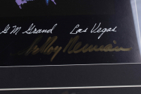 "LeRoy Neiman Signed 23x28 1996 Custom Framed ""Tyson vs. Holyfield"" Original Vintage Fight Lithograph Display (PSA COA) at PristineAuction.com"