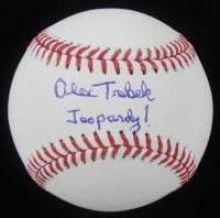 "Alex Trebek Signed OML Baseball Inscribed ""Jeopardy!"" (JSA COA) at PristineAuction.com"