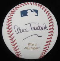 Alex Trebek Signed Engraved OML Baseball (JSA COA) at PristineAuction.com