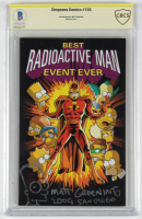 "Matt Groening Signed 2009 ""Best Radioactive Man Event Ever"" Issue #155 ""Simpsons"" Comic Book Inscribed ""2009 San Diego"" with Hand-Drawn Sketch (BGS Encapsulated) at PristineAuction.com"