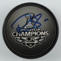 Drew Doughty Signed Kings 2012 Stanley Cup Champions Logo Hockey Puck (JSA COA) at PristineAuction.com