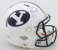 Zach Wilson Signed BYU Cougars Full-Size Authentic On-Field Speed Helmet (JSA COA) at PristineAuction.com
