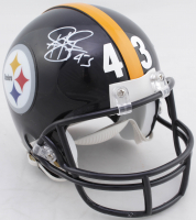 Troy Polamalu Signed Steelers Super Bowl XLIII Champions Mini-Helmet (Beckett COA) at PristineAuction.com