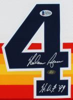 "Nolan Ryan Signed Astros Jersey Inscribed ""H.O.F. '99"" (Beckett COA & Ryan Hologram) at PristineAuction.com"