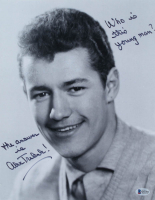 """Alex Trebek Signed """"Jeopardy"""" 11x14 Photo Inscribed """"The Answer Is"""" & """"Who Is This Young Man?"""" (Beckett COA) at PristineAuction.com"""
