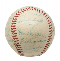 1955 Giants Baseball Team-Signed by (25) With Willie Mays, Dusty Rhodes, Monte Irvin, Hank Thompson (Beckett LOA) at PristineAuction.com
