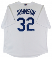 "Magic Johnson Signed Dodgers Jersey Inscribed ""2020 WS Champs"" (Beckett COA) at PristineAuction.com"
