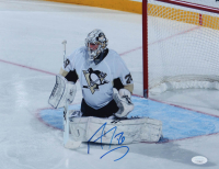 Marc-Andre Fleury Signed Penguins 11x14 Photo (JSA COA) at PristineAuction.com