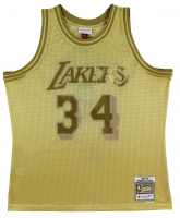 Shaquille O'Neal Signed Lakers Gold Swingman Jersey (Beckett COA) at PristineAuction.com