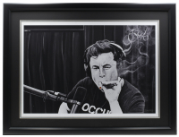 "Ross Baines Elon Musk ""The Joe Rogan Experience"" 17x24 Custom Framed Print Display at PristineAuction.com"
