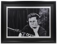 "Ross Baines Elon Musk ""The Joe Rogan Experience"" 17x24 Custom Framed Print Display at PristineAuction.com"