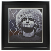 "Ross Baines Khabib Nurmagomedov ""29-0"" 16x16 Custom Framed Print Display at PristineAuction.com"