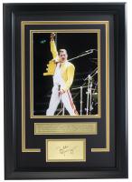Freddie Mercury Queen 16x19 Custom Framed Photo Display at PristineAuction.com