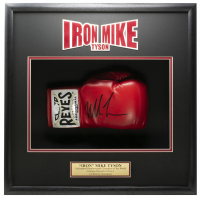 Mike Tyson Signed 18x19x5 Custom Framed Boxing Glove Shadowbox Display (JSA COA) at PristineAuction.com