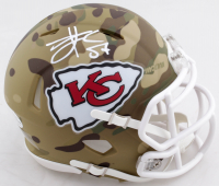 Travis Kelce Signed Chiefs Camo Alternate Speed Mini Helmet (Beckett COA) at PristineAuction.com