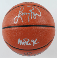 Larry Bird & Magic Johnson Signed NBA Game Ball Series Basketball (Beckett COA) at PristineAuction.com