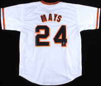 """Willie Mays Signed Jersey Inscribed """"660 HR"""" (Tennzone COA & Mays Hologram) at PristineAuction.com"""
