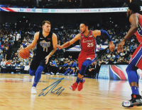 Luka Doncic Signed Mavericks 11x14 Photo (PSA Hologram) at PristineAuction.com