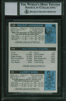 Larry Bird, Julius Erving & Magic Johnson Signed 1980-81 Topps #6 RC (BGS Encapsulated) at PristineAuction.com