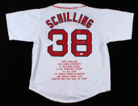 Curt Schilling Signed Career Highlight Stat Jersey (JSA COA) at PristineAuction.com