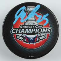 Devante Smith-Pelly Signed Capitals 2018 Stanley Cup Champions Hockey Puck (Fanatics Hologram) at PristineAuction.com