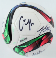 Team USA Women's Soccer Nike Soccer Ball Team-Signed by (9) with Carli Lloyd, Kelly O'Hara, Becky Sauerbrunn, Amy Rodriguez (JSA COA) at PristineAuction.com