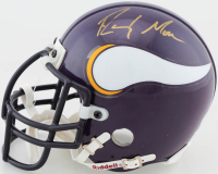 Randy Moss Signed Vikings Mini Helmet with Display Case (UDA COA) at PristineAuction.com