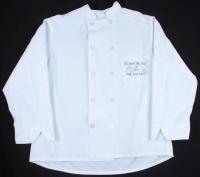 "Larry Thomas Signed Chef's Jacket Inscribed ""No Soup For You!"" & ""The Soup Nazi"" (JSA COA) at PristineAuction.com"