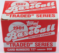 1981 Topps Traded Series Baseball Card Box with (132) Cards at PristineAuction.com