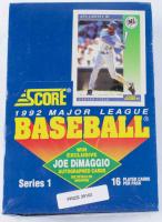 1992 Score Baseball Series 1 Box of (36) Wax Packs at PristineAuction.com