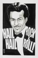 Tom Hodges - Chuck Berry - Signed 11x17 ORIGINAL Artwork (PA COA) at PristineAuction.com