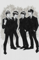 Tom Hodges - The Beatles - Signed 11x17 ORIGINAL Artwork (PA COA) at PristineAuction.com
