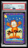 Jim Davis Signed Garfield Trading Card (PSA Encapsulated) at PristineAuction.com