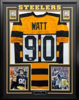 T.J. Watt Signed 34.5x42.5 Custom Framed Jersey (Beckett COA) at PristineAuction.com