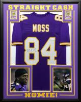 Randy Moss Signed 34.5x42.5 Custom Framed Jersey (Beckett COA) at PristineAuction.com