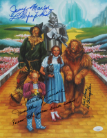 """Mickey Carroll, Jerry Maren & Karl Slover Signed """"The Wizard of Oz"""" 11x14 Photo with (4) Character Inscriptions (JSA COA) at PristineAuction.com"""