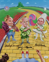 """Jerry Maren, Mickey Carroll & Karl Slover Signed """"The Wizard Of Oz"""" 11x14 Photo (JSA COA) at PristineAuction.com"""