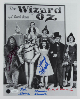 """The Wizard Of Oz"" 11x14 Photo Cast-Signed by (6) with Donna Stewart-Hardway, Mickey Carroll, Clarence Swensen, Karl Slover (JSA COA) at PristineAuction.com"