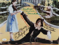 """""""The Wizard of Oz"""" 11x14 Photo Cast-Signed by (5) with Karl Slover, Mickey Carroll, Jerry Maren, Donna Stewart-Hardway with (3) Character Inscriptions (JSA COA) at PristineAuction.com"""