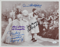 """""""The Wizard of Oz"""" 11x14 Photo Cast-Signed by (4) with Karl Slover, Mickey Carroll, Jerry Maren & Donna Stewart-Hardway with Character Inscriptions (JSA COA) at PristineAuction.com"""
