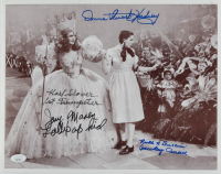 """The Wizard of Oz"" 11x14 Photo Cast-Signed by (5) with Karl Slover, Mickey Carroll, Jerry Maren, Donna Stewart-Hardway with (2) Character Inscriptions (JSA COA) at PristineAuction.com"