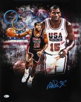 Magic Johnson Signed Team USA 16x20 Photo (Beckett COA) at PristineAuction.com