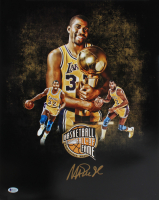 Magic Johnson Signed Lakers 16x20 Photo (Beckett COA) at PristineAuction.com
