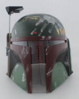 "Jeremy Bulloch Signed Star Wars ""Boba Fett"" Full-Size Deluxe Edition Star Wars Helmet Inscribed ""Boba Fett"" (JSA COA) at PristineAuction.com"