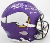 "Adrian Peterson Signed Vikings Full-Size Authentic On-Field Speed Helmet Inscribed ""NFL ROY 2007"", ""NFL MVP 2012"", & ""All Day"" (Beckett COA) (See Description) at PristineAuction.com"