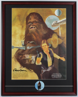 Star Wars 24x30 Custom Framed 1977 Original Coca Cola Promotion Only Poster Display with Vintage Pin at PristineAuction.com